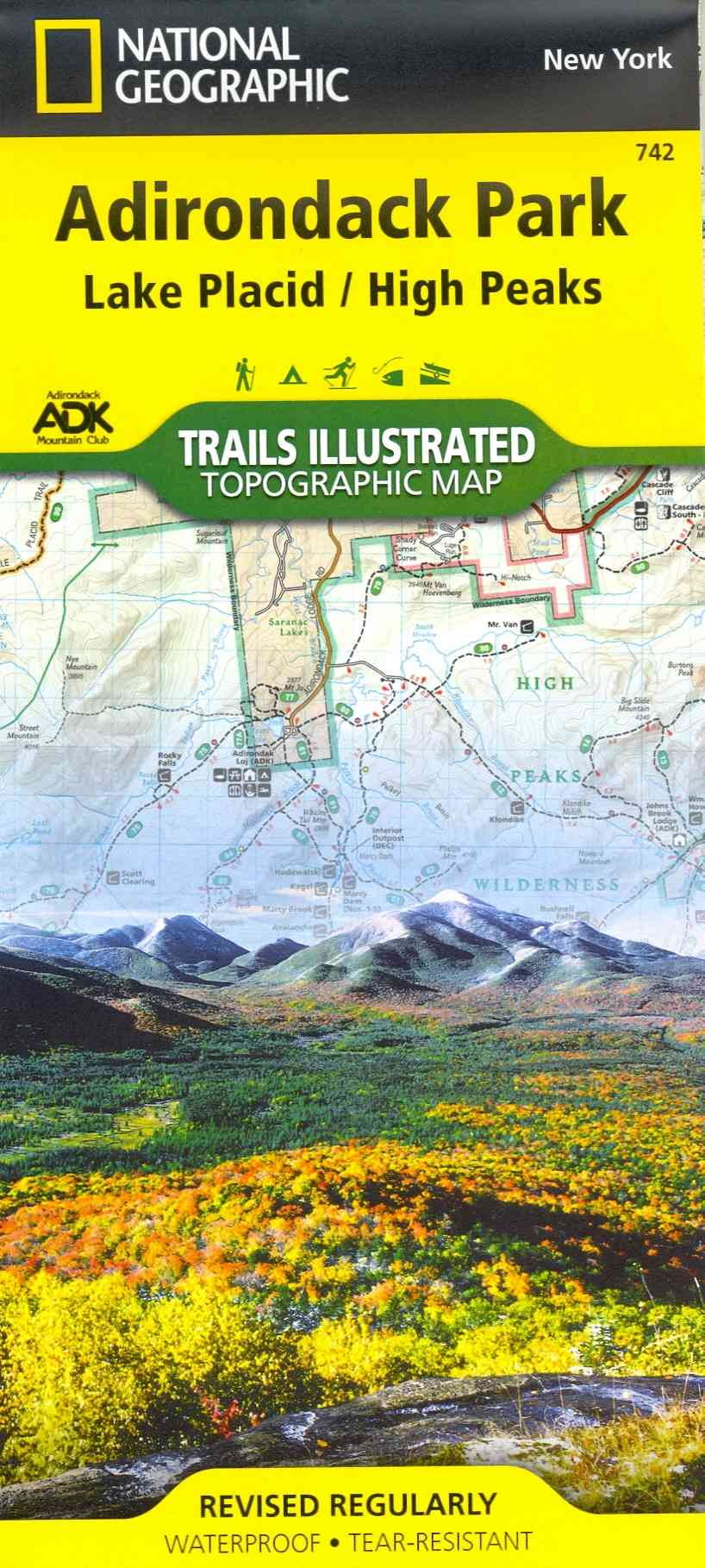 National Geographic Trails Illustrated Map Lake Placid / High Peaks, Adirondack Park By National Geographic Maps
